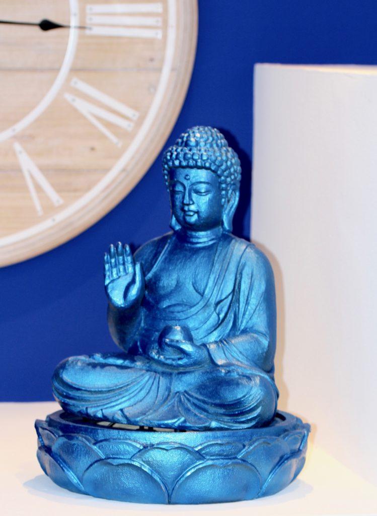 Blauer Buddha